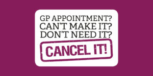 cancel GP appt